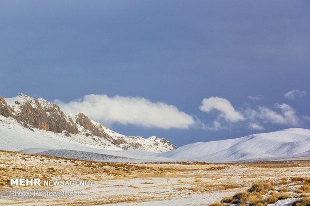 ارتفاع برف در شهر چلگرد 16 سانتی متر است