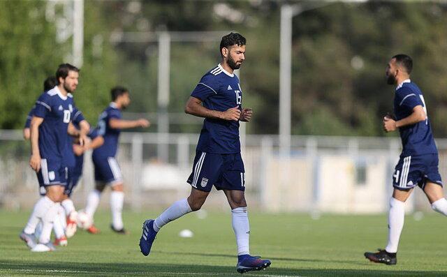 رضا قوچان نژاد مهمان ویژه تمرین تیم ملی