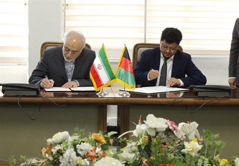 امضای تفاهمنامه همکاری میان سازمان انرژی اتمی ایران و کمیسیون عالی انرژی اتمی افغانستان
