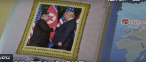 چاپ تمبر حاوی تصاویر ترامپ و کیم در کره شمالی