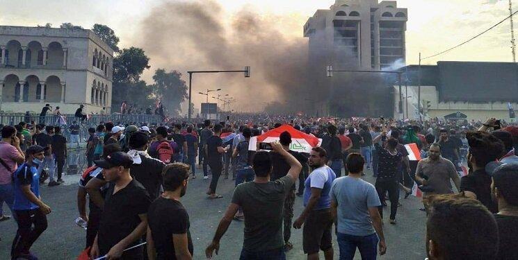 معترضان نقشه راه بغداد را کشیدند، نشست سران عراقی پشت درهای بسته