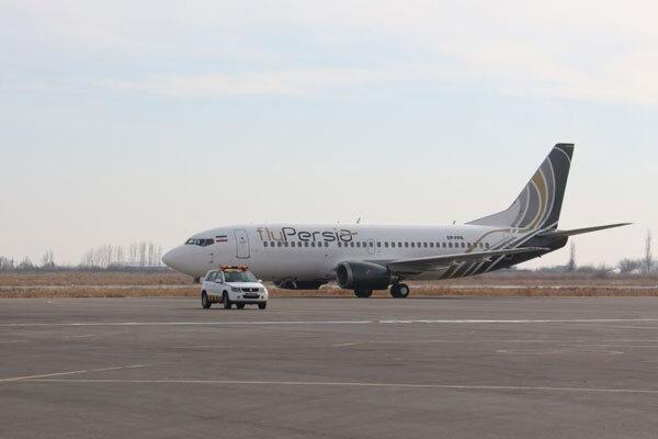 نخستین پرواز فلای پرشیا در فرودگاه ارومیه فرود آمد