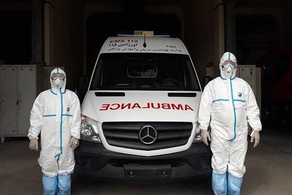 اختصاص 4 دستگاه آمبولانس به بیماران کرونایی گیلان