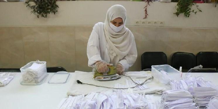 تولید و دوخت ماسک در سرای تکنولوژی نساجی دانشگاه آزاد اراک