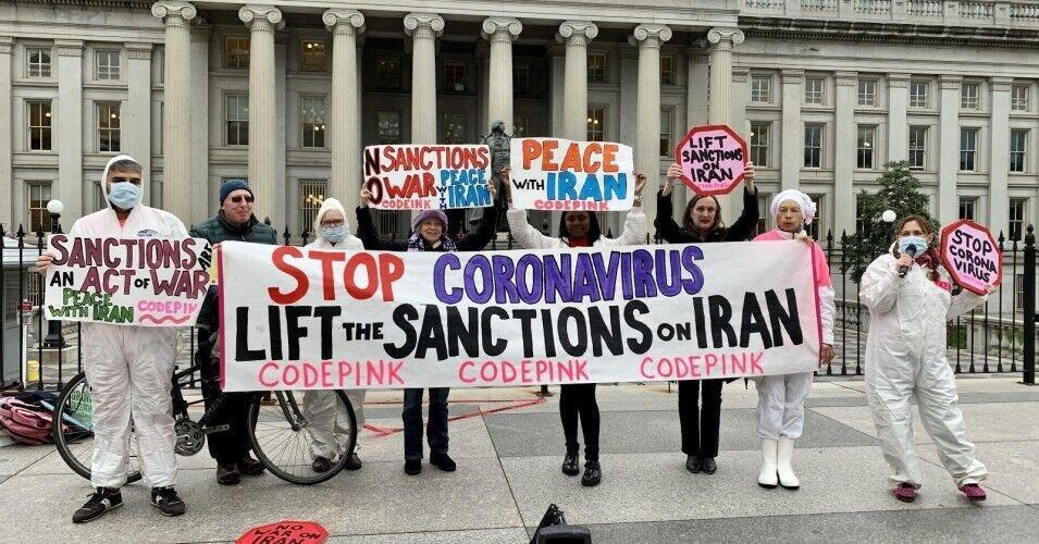 کدپینگ ها مقابل وزارت خزانه داری آمریکا در حمایت از ایران