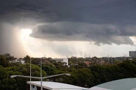 رگبار رعد و برق و باران در بعضی استان های کشور