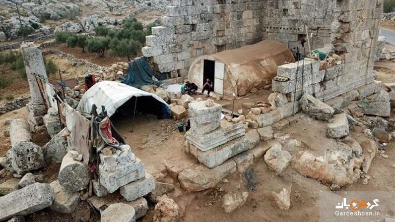 معبد تاریخی پناهگاه آوارگان سوری