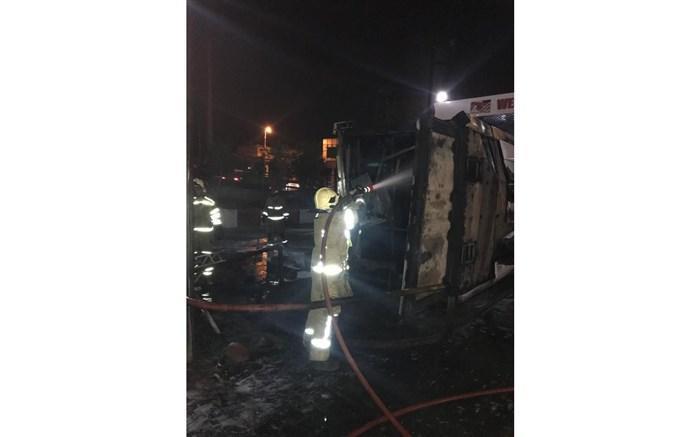 یک مخزن زمینی سوخت در صندلی بنزین منفجر شد