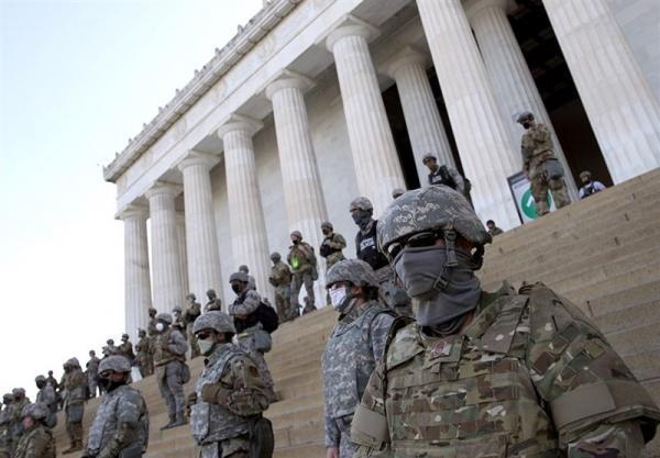 نقش پررنگ گارد ملی آمریکا برای برقراری امنیت مراسم تحلیف بایدن