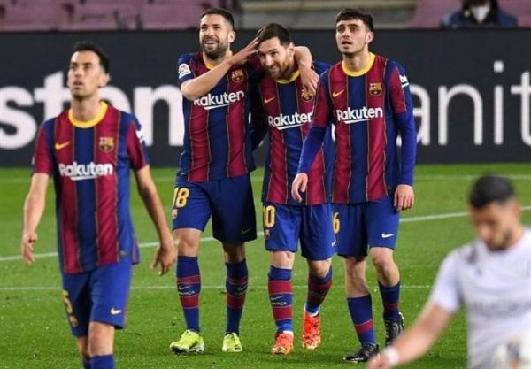 لالیگا، پیروزی آسان بارسلونا برای سبقت از رئال مادرید با گل های مسی، لئو به رکورد ژاوی رسید