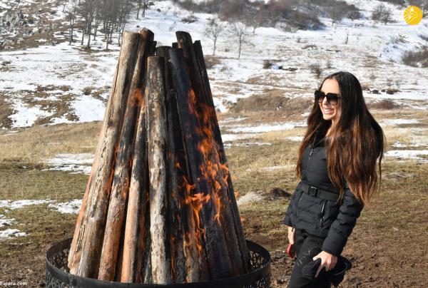 جشن نوروز رییس جمهور آذربایجان با خانواده اش