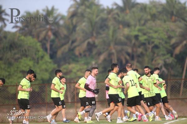 تمرین پرسپولیسی ها با تشویق فوتبالدوستان هندی