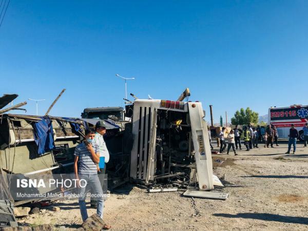 اسامی فوتی ها و مصدومان حادثه تصادف اتوبوس در دهشیر یزد